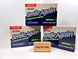 Smile Again Denture & Retainer Cleaner - Cleans and Disinfects! 3-Pack with FREE Vantage Point Trading Brush!