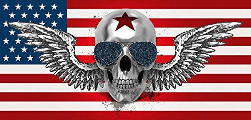 Eurographics FA-FRF1059 Fashion Art Skull Flag, 55 x 115 cm