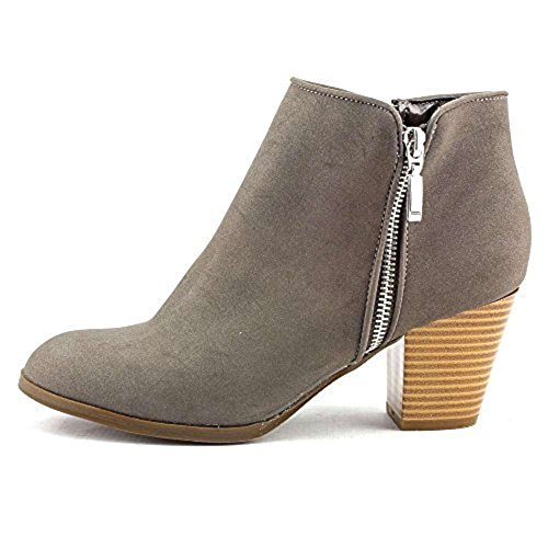 - Style & Co. Womens Jamila Leather Almond Toe Ankle Fashion Boots Gris Size 7.0 M US