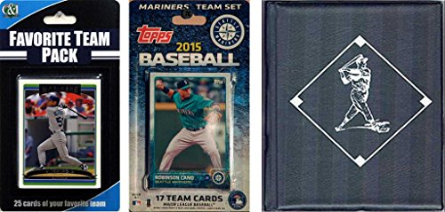 MLB Seattle Mariners Licensed 2015 Topps® Team Set and Favorite Player Trading Cards Plus Storage Album ()