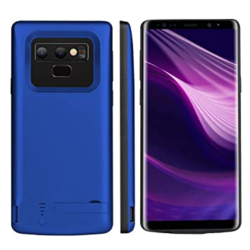 Funda Batería Samsung Galaxy Note 9, [Kickstand] 5000mAh Recargable Externa Portátil Batería Cargador Pack Power Bank Ultra Fina Integrada Recargable ...