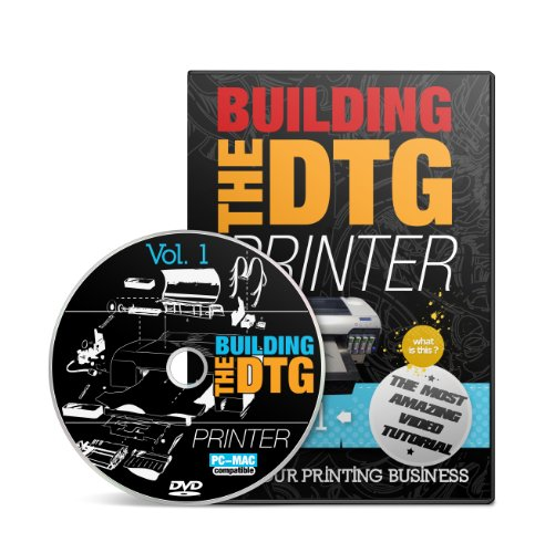 DIY Video Guide on How to Build a Direct to Garment Printer (4 Dvd's + Printed Book)