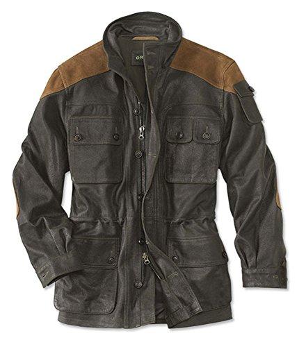 Orvis Men's Leather Ranger Jacket, Olive, Medium