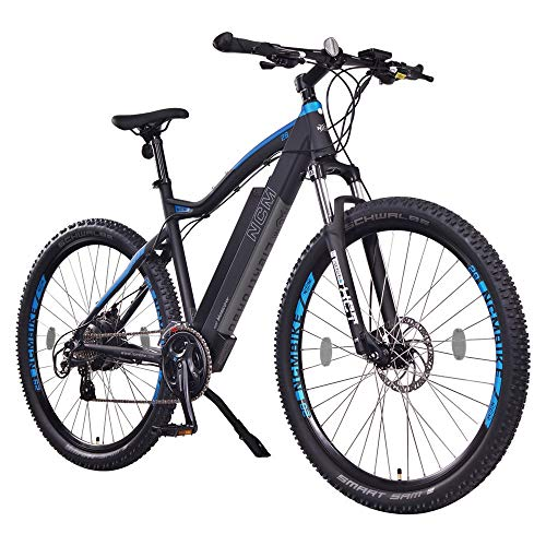 NCM Moscow Electric Mountain Bike, E-Bike, 250W, E-MTB, 48V 13Ah 624Wh Battery (29' Black)