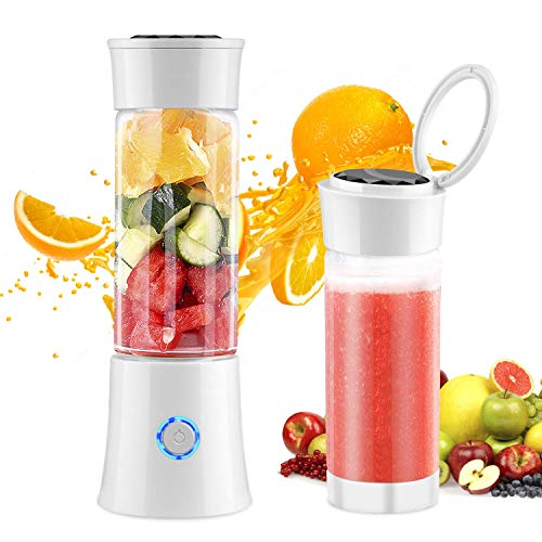 Portable Blender,Udream 480ml Multi-Functional Travel Electric Juice Blender Cup with USB Rechargeable Small Blender for Shakes and Smoothies, Stronger and Faster with Stainless Steel 6-Blades,FDA BPA Free【2019 Upgraded】 (Best Blenders For Smoothies 2019)