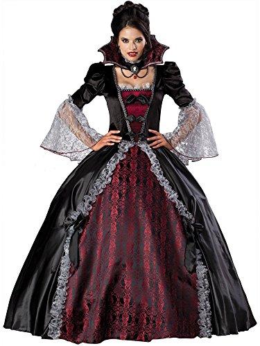 InCharacter Costumes Women's Vampiress Of Versailles Costume, Black/Burgundy,