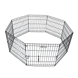 ValuPlanet Epoxy Folding Dog Exercise Pen, 36-Inch, Black For Sale