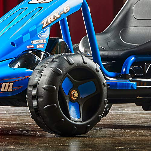 51odygQc%2B L - Huffy 17197P 6V 2 in 1 Ride On Car for Kids, Flat Kart Toy, Blue