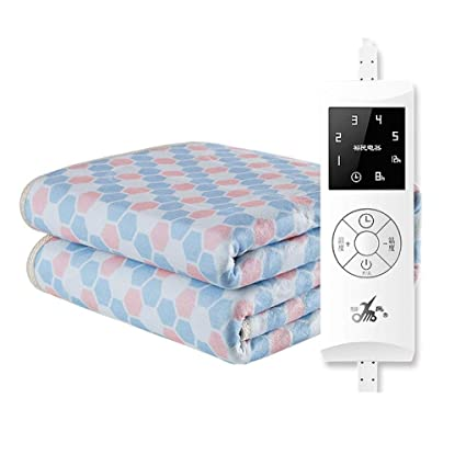 HUYYA Manta eléctrica Cama Matrimonio, Control con 5 configuraciones de Calor Manta eléctrica -seguras