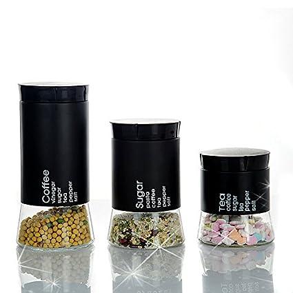 Contenedor de almacenamiento de cocina/depósito de secano cocina Vidrio Botella de almacenamiento de alimentos