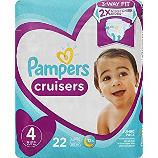 Pampers Cruisers, Diapers Size 4, 22 Count