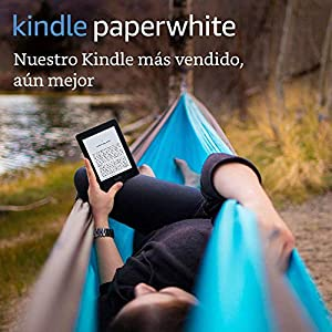 Kindle Paperwhite, pantalla E-ink de alta resolución, luz integrada, color Negro, Wi-Fi