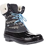 Khombu Womens Jenna Closed Toe Mid-Calf Cold Weather Boots, Grey/Black, Size 6.0