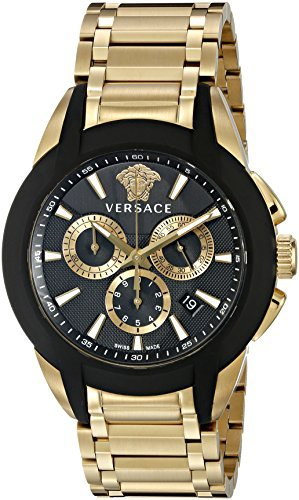 Versace-Mens-VQN060015-Character-Gold-Tone-Stainless-Steel-Watch-Model-VQN060015-HandWrist-Watch-Store