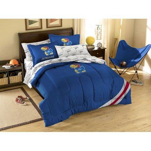 (NCAA Kansas Jayhawks Full Bedding Set)