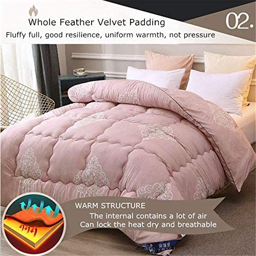 ZTBXQ Accueil Ustensiles Couette Coton Hiver Warm Duvet Core Impression réactive Couette Printemps et Automne 1.5 4 kg (6200 * 230cm 3kg)