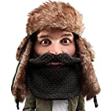 Beard Head Classic Trapper Beard Hat - Faux Fur with Ear Flaps and Beard Facemask