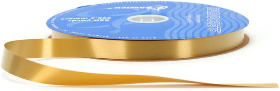 Holiday Gold 3//4-Inch Wide by 250-Yard Spool Berwick P7 59 Splendorette Craft Ribbon