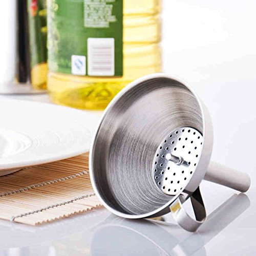 Thicken Stainless Steel Handle Wine Beer Brewing Funnel Homemade Wine Beer Filter
