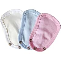 3Pcs Baby Romper Crotch Extender Child Bodysuit Cotton Onesie Extenders Infant Super Utility Diaper Toddler Jumpsuit to…