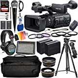 Sony PXW-Z150 4K XDCAM Camcorder with Deluxe Accessory Bundle - Includes: Audio-Technica VHF TwinMic System + Sony MDR-7506 Headphones + SanDisk Extreme PRO 128GB SDXC Memory Card + More