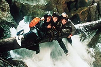 The Goonies Sean Astin Josh Brolin Corey Feldman By Waterfall 11x17 Mini Poster At Amazon S Entertainment Collectibles Store
