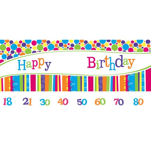 Creative Converting Bright and Bold Giant Party Banner with Customizable Age Stickers
