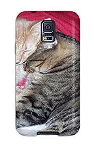 SqM-532WhUrRNEH Snap On Case Cover Skin For Galaxy S5(cats Cuddling Cat Animal Cat)