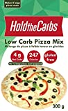 Low Carb Pizza Crust Mix, Very Low Calorie, Gluten Free, No Added Sugar, No Sweeteners, No Preservatives, Made in Canada - makes 4 large 12'' low carb pizzas