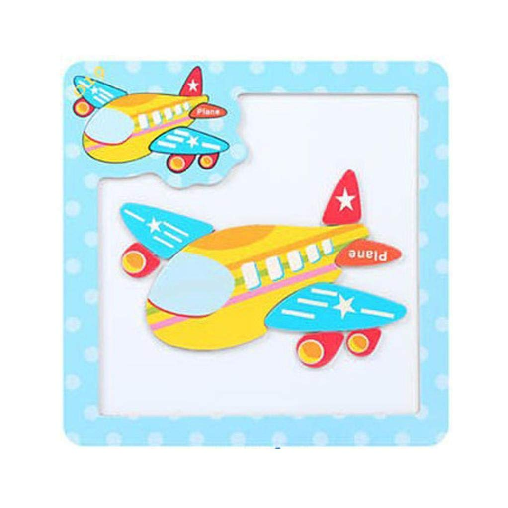 Roysberry Toys - Wooden Educational Magnetic Preschool Aircraft 3D Puzzle Shape Color Recognition Stereoscopic Alphabet Puzzle Toys - Birthday Gift Toy Jigsaw Puzzles for Kids