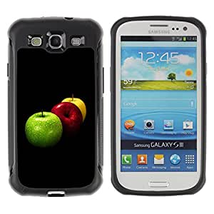 Pulsar Defender Series Tpu silicona Carcasa Funda Case para SAMSUNG Galaxy S3 III / i9300 / i747 , Fruit Macro Apples Colors