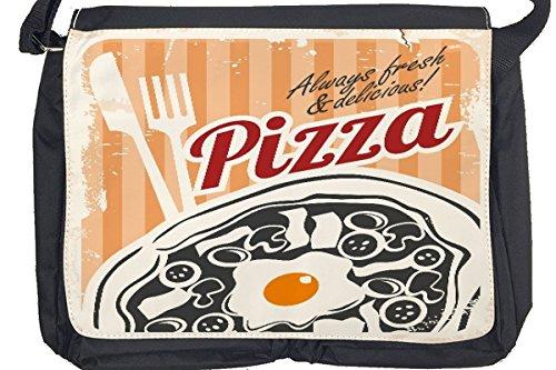 Borsa Tracolla Alimentare Ristorante Pizza retrò Stampato