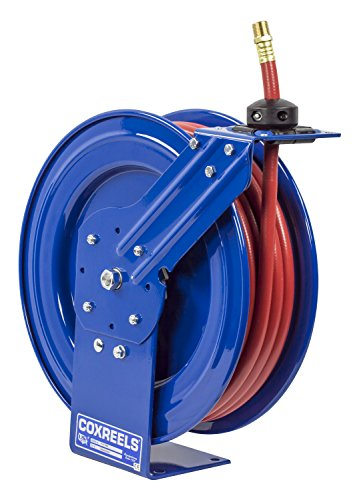 Coxreels P-LP-450 Low Pressure Retractable Air/Water Hose Reel: 1/2