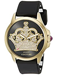 Juicy Couture Women's 1901142 Jetsetter Analog Display Quartz Black Watch