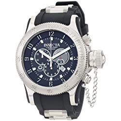Invicta Men's 0803 Russian Diver Offshore Chronograph Black Dial Black Polyurethane Watch
