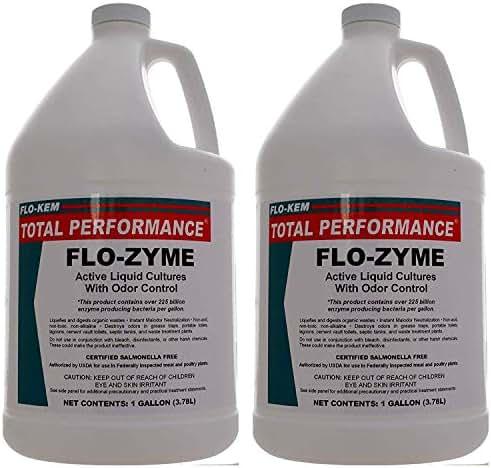 Flo-Kem 5195 Flo-Zyme Commercial Bio-Enzyme Drain Opener/Deoderizer with Pleasant Scent, 1 Gallon Bottle, Milky White (Тhrее Расk)
