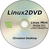 "Software : Linux Mint 18.3 "" Sylvia "" LATEST RELEASE - Cinnamon Version - Install / Live DVD ( 32/64 bit )"
