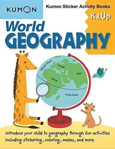 Geography Sticker - World Geography: Kumon Sticker Activity Books K & Up