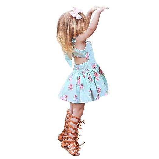 c246caa70b1d Amazon.com  Minisoya Cute Infant Toddler Kid Baby Girls Boho Floral ...