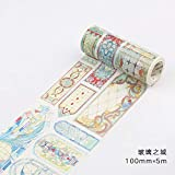Gold Happy Vintage Universe Star Series washi Tape 10cm Wide Retro Masking Tape Notebook Diary Decorative Stickers Tapes School Stationery