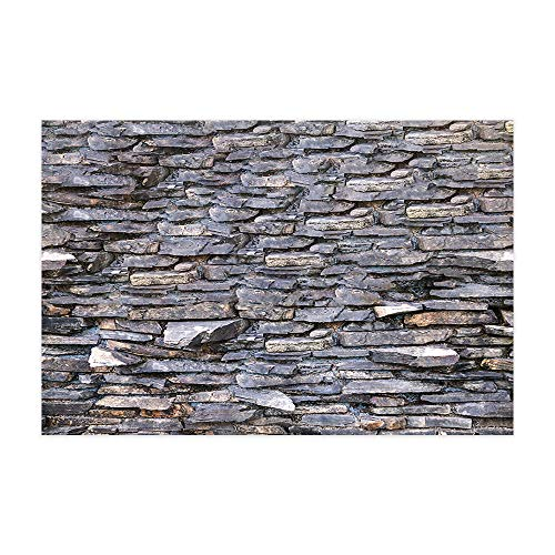 (Brick Wall Wallpaper Doormat Stone Rock Wall, Rough Grunge Weathered Brick Wall Rustic Nature Decor Bath Rugs, Flannel Non-Slip Floor Indoor Entrance Mat Rug 15.7x23.6in Home Accessories)