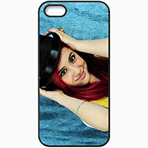 Personalized iPhone 5 5S Cell phone Case/Cover Skin 2013 Ariana Grande Celebrities Black