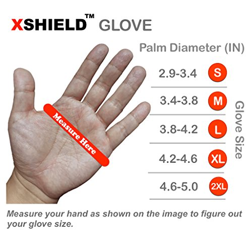 XSHIELD 17-PMG,Ultimate-Nylon, Micro-Foam Nitrile Grip Safety Work Gloves for General Purpose, OKEO-Tex Certificated,Ideal for Auto Repair, DIY,Home Improvement,12 Pairs(Large) by X-Shield (Image #6)