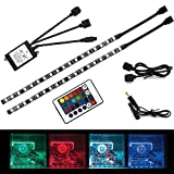 ALOTOA RGB Computer Light 36leds LED Strip Light with Multi Function RF Remote Controller for Desktop PC Computer Mid Tower Case