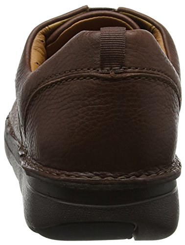 Clarks Unnature Time, Scarpe Stringate Derby Uomo Marrone (Brown Leather -)