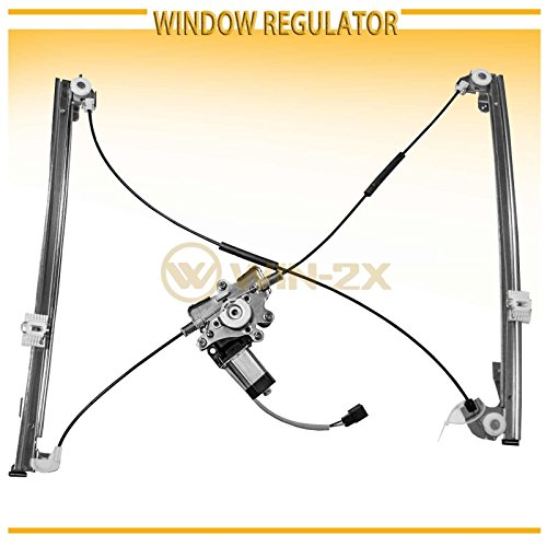 Plymouth Voyager Left Driver (WIN-2X New 1pc Front Driver Left Side Power Window Regulator With Motor Assembly Fit 96-00 Chrysler Town & Country 00 Voyager 96-00 Dodge Caravan/Grand Caravan Plymouth Voyager/Grand Voyager)