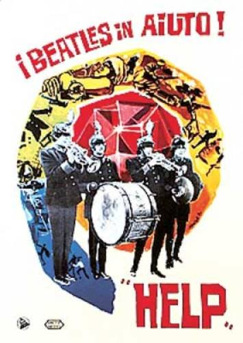 Help Italian Reprint New The Beatles Poster