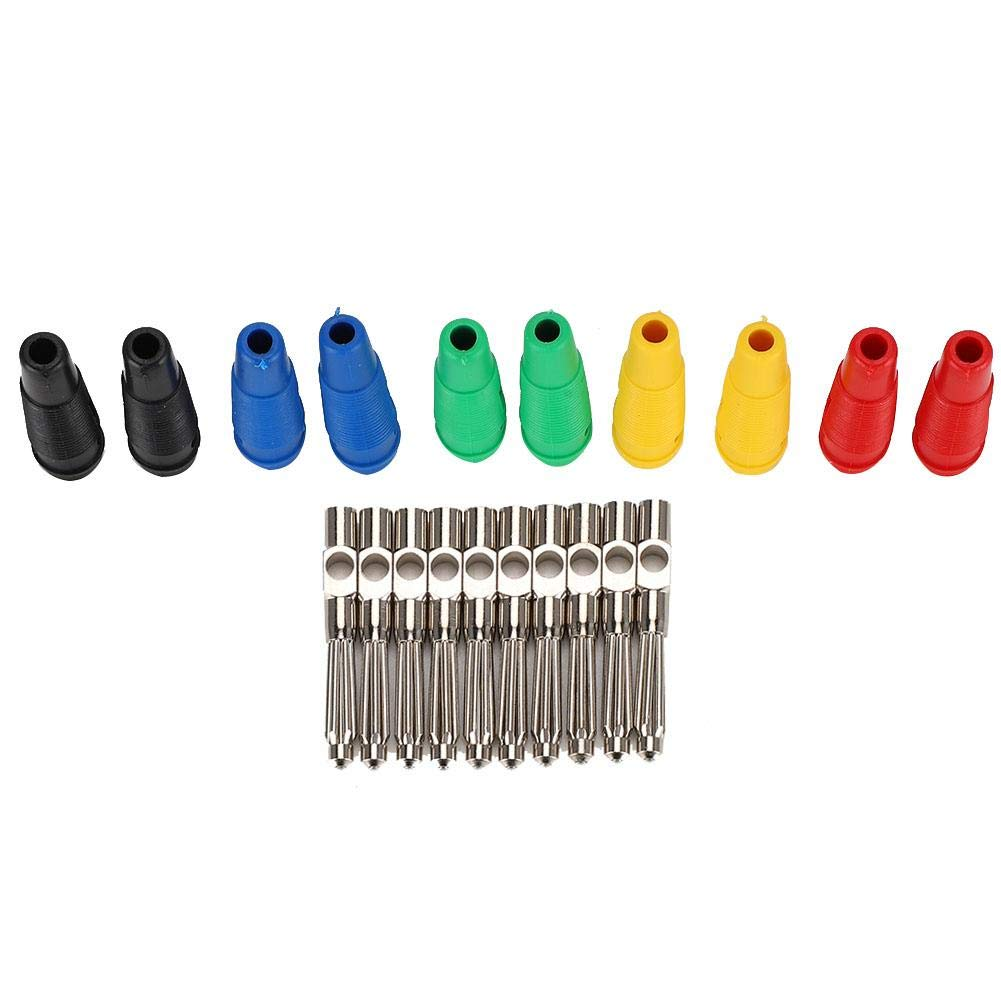 Conector macho tipo banana Cobre puro 32A Tensión de alta corriente Manguitos tipo clavija Clavijas metálicas 10 piezas 4 mm