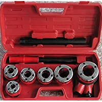 Solwet Manual pipe threader ratchet die stock, 1/2 to 2-inch