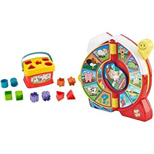 Fisher-Price Brilliant Basics Baby's First Blocks and Little People See 'n Say Farmer Eddie Says Bundle